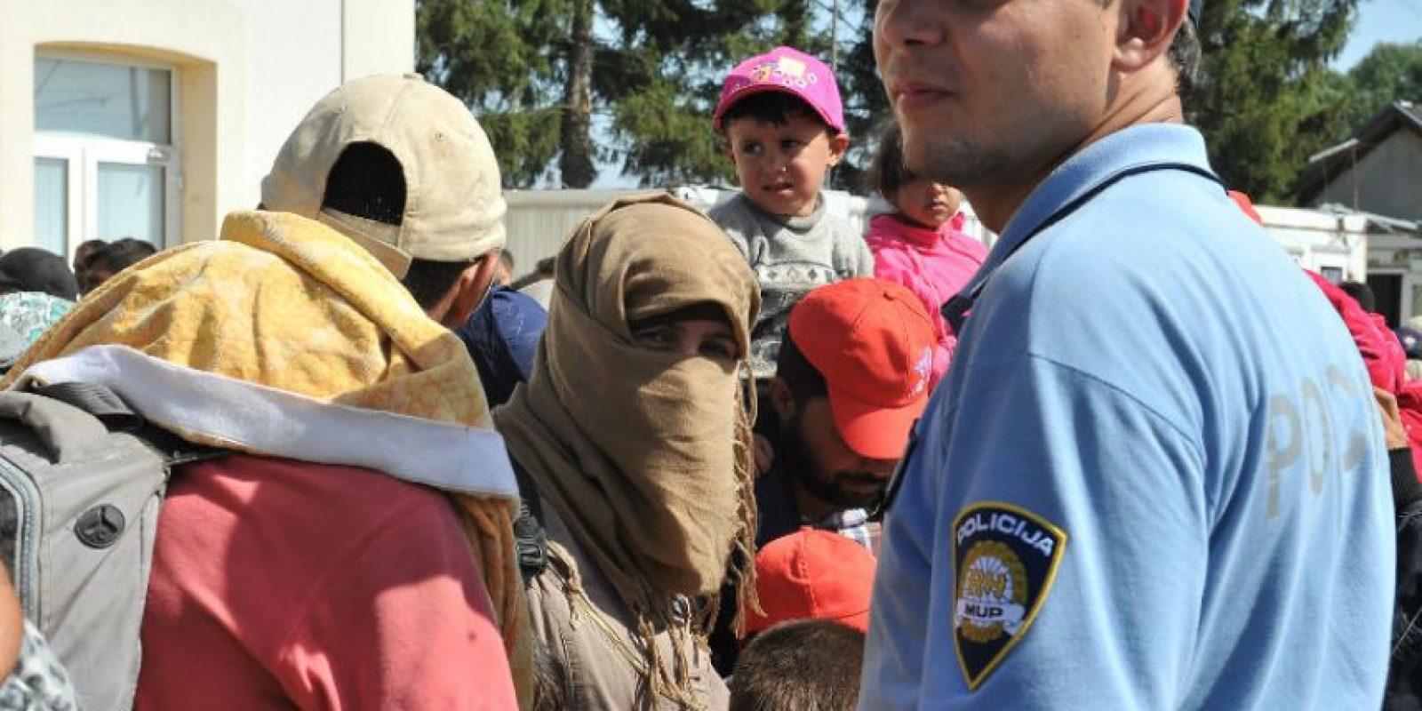 Un centro de acogida se ha improvisado en el municipio Tovarnik Foto:AFP