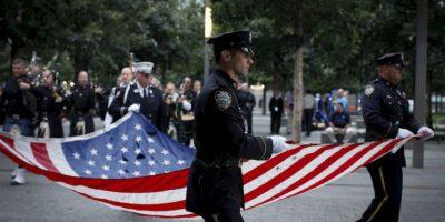 Homenaje de la Policía de Nueva York. Foto:AFP