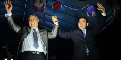 Partido Líder felicita al presidente electo, Jimmy Morales