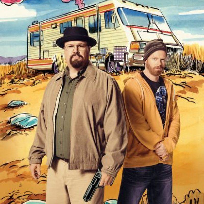 """Jesse Tyler Ferguson y Eric Stonstreet se metieron en la piel de los protagonistas de """"Breaking Bad"""" Foto:The Hollywood Reporter"""