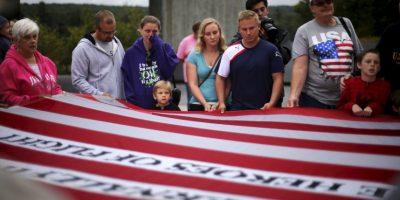 Visitantes en el National Memorial en Pensilvania. Foto:AP