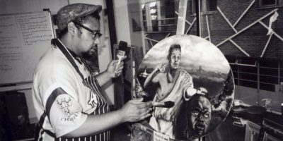 """""""El artista, Whitechapel"""" es la imagen de noviembre 2016 Foto:Cafe Art – Michael Crosswaite"""