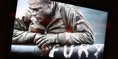 """La cinta """"Fury"""" protagonizada por Brad Pitt y Shia LaBeouf también apareció online. Foto:Getty Images"""