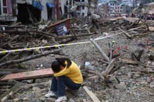 7. 12 de mayo de 2008, Sichuan, China: Se estima que más de 45,5 millones de personas de 10 provincias se vieron afectadas. Foto:Getty Images