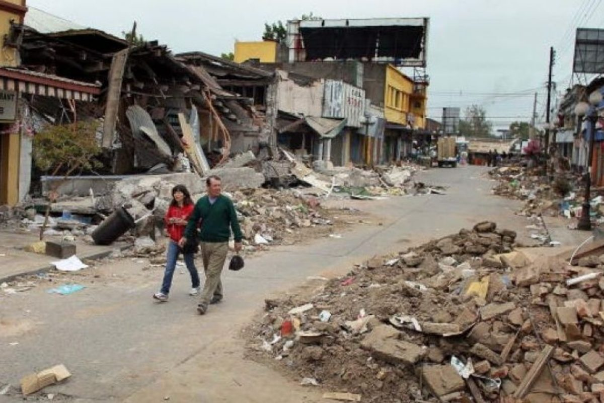 8. 27 de febrero de 2010, Bio-Bio, Chile: 12 mil personas heridas y más de 800 mil sin hogar. Foto:Getty Images