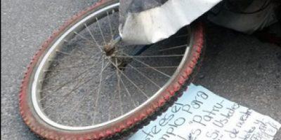 Asesinan a ciclista y dejan este intimidante mensaje