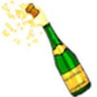 Champaña. Foto:emojipedia.org