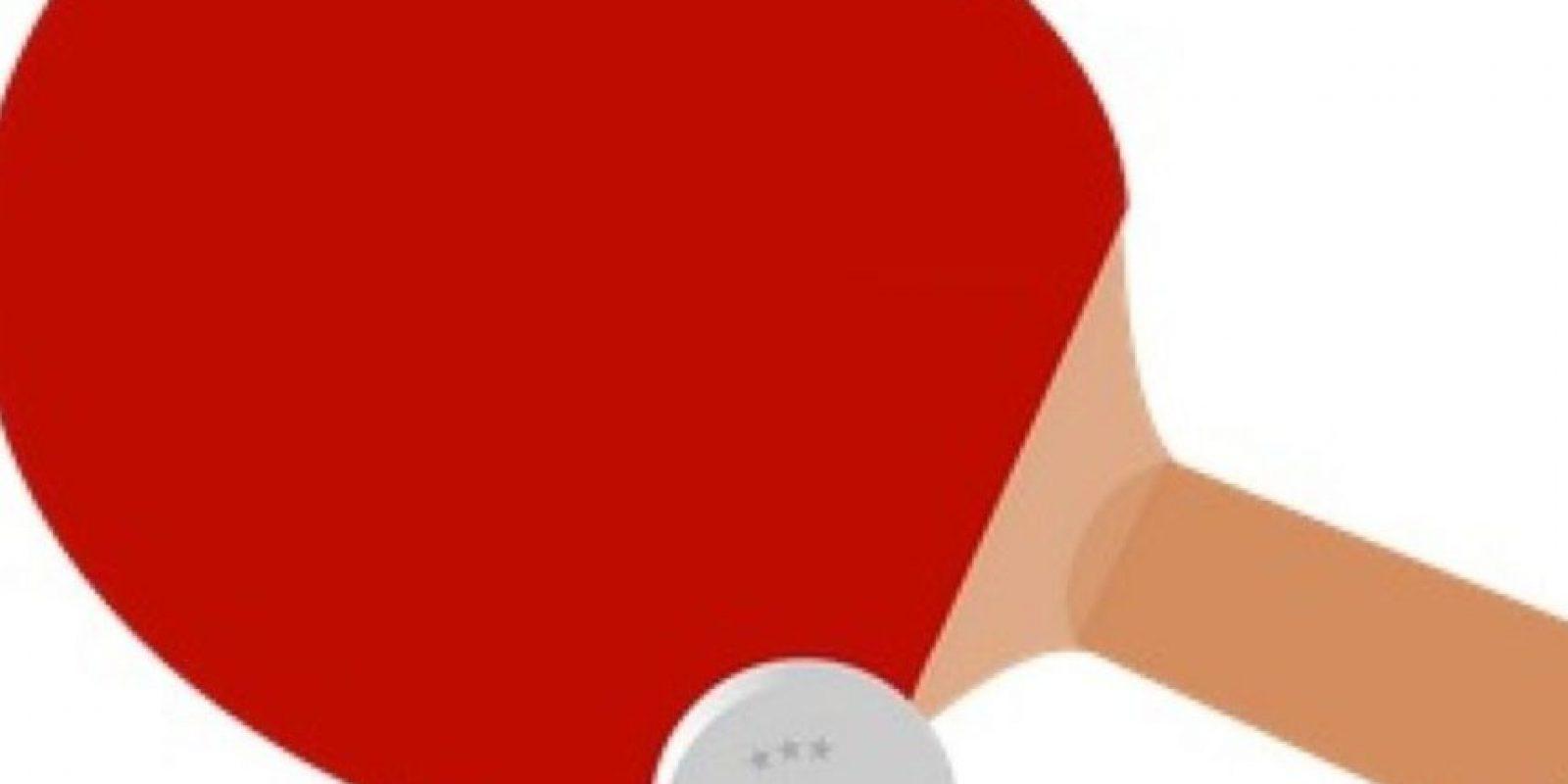 Raqueta de tenis de mesa Foto:emojipedia.org