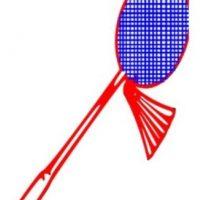 Raqueta de bádminton. Foto:emojipedia.org