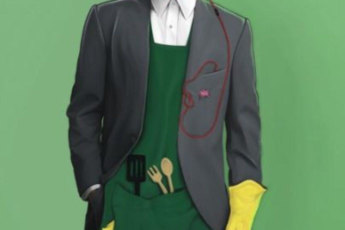 Pero a Foster se le ocurrió darle un toque más moderno y eliminar la corbata. Foto:vía instagram.com/leland.foster