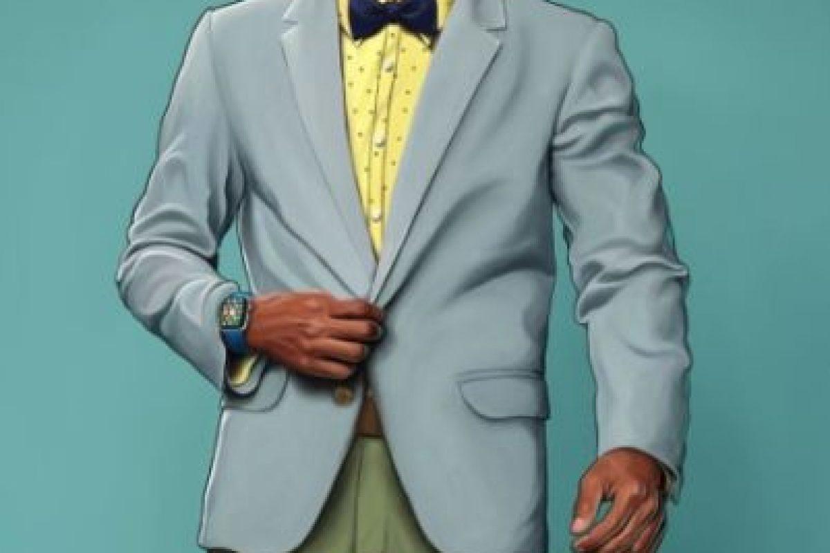 """Foster eligió un look estilo hipster para el primo de """"Will"""" y lo complementó con un un reloj y unos lentes inteligentes. Foto:vía instagram.com/leland.foster"""