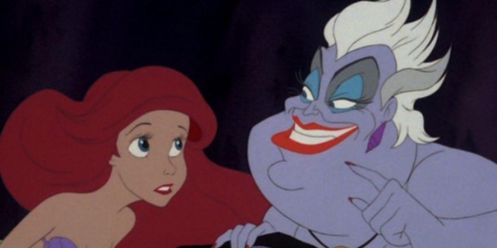 """""""'Úrsula' hizo un contrato con 'Ariel' que no tenía ninguna cláusula que estipulara que ella no debía intervenir"""". Foto:facebook.com/DisneyTheLittleMermaid"""