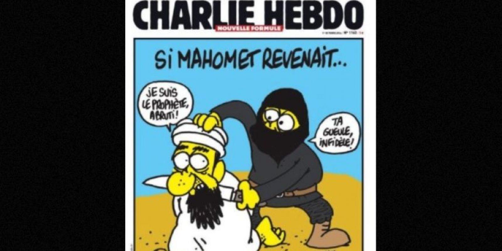 Pero sus portadas en las que aparecía el profeta Mahoma eran las que causaban más polémica Foto:Vía: www.facebook.com/CharlieHebdoOfficiel