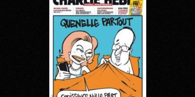 Otras eran referentes a políticos franceses como el presidente Francois Hollande Foto:Vía: www.facebook.com/CharlieHebdoOfficiel