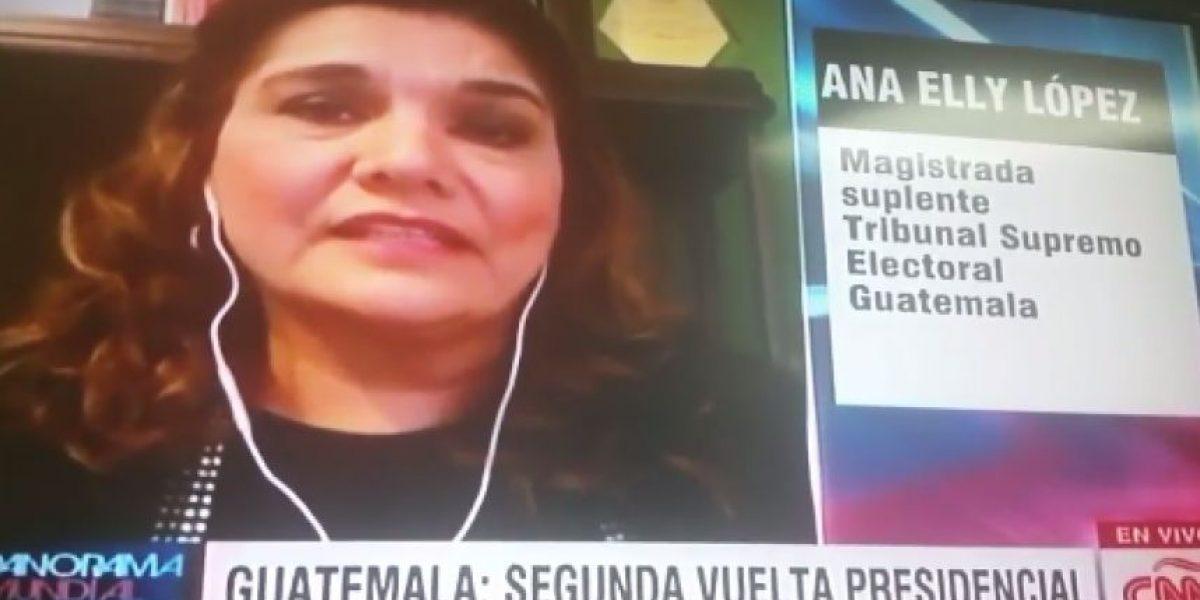 Magistrada suplente aseguró en CNN que Baldizón ya sabía que iba a perder
