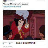 """""""El maestro de Ahmed"""" Foto:Twitter.com"""