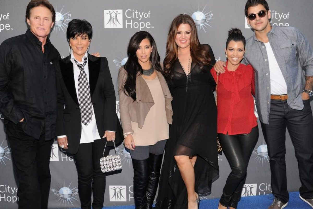 """Los protagonistas del reality show """"Keeping Up with the Kardashians"""". Foto: Getty Images"""