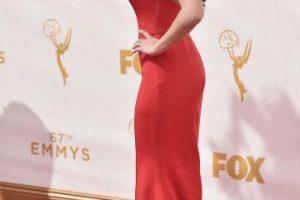 Para el gran día, en la alfombra roja de los Emmy Awards, Ariel se vistió de rojo. Foto: Getty Images
