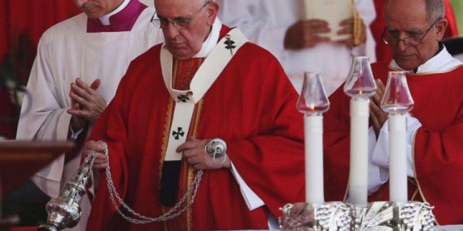 También ofició una misa en la ciudad de Holguín Foto:Getty Images