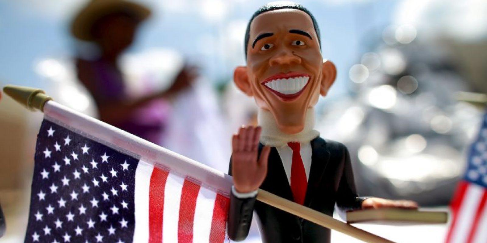 El presidente se convirtió en souvenir de Carolina del Norte en 2012. Foto:Getty Images