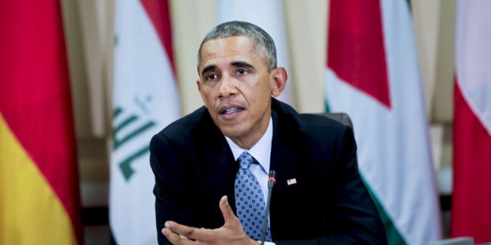En octubre de 2014, Barack Obama se reunión con ministros de asuntos exteriores para detallar el plan de ataque contra ISIS Foto:Getty Images