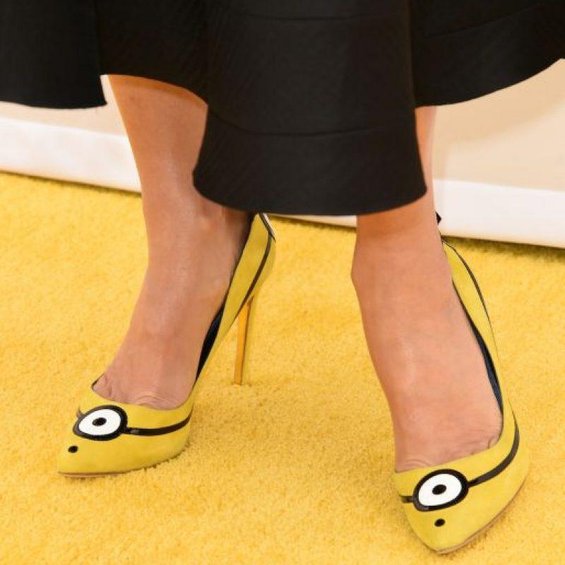 Los zapatos fueron diseñados por Rupert Sanderson y tienen un costo aproximado de 800 dólares. Foto:Getty Images