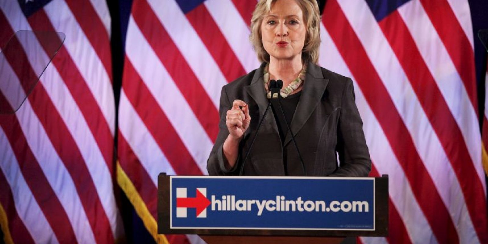 """""""Eso fue un error. Lo lamento. Asumo la responsabilidad"""", declaró Clinton sobre haber utilizado una cuenta de correo personal en lugar de usar la que provee la Casa Blanca. Foto:Getty Images"""
