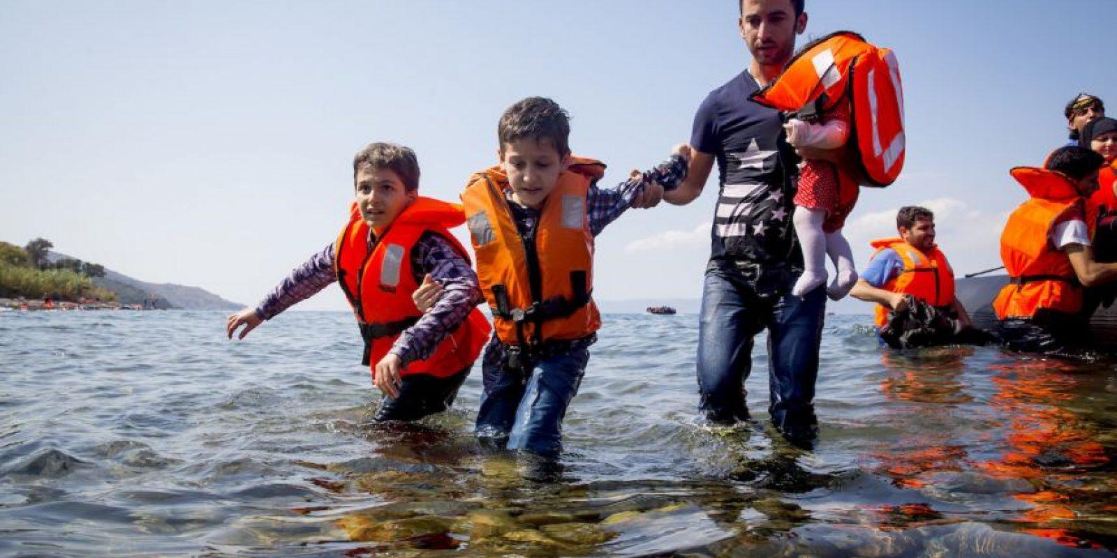 Según el periódico español El País, el ministro de Economía de Alemania ministro de Economía, Sigmar Gabriel sostuvo que pueden acoger a medio millón de refugiados este año. Foto:Getty Images