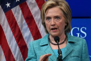 La candidata no habló de sus opositores Donald Trump o Jeb Bush. Foto:Getty Images
