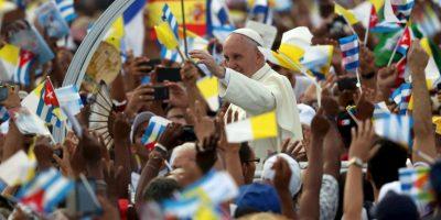 Allí ofreció una histórica misa en la Plaza de la Revolución en La Habana. Foto:Getty Images