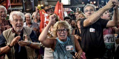 Aunque el pueblo votó en contra, Tsipras terminó aceptando Foto:Getty Images