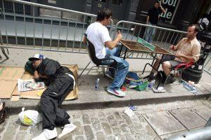 Mientras unos dormían, otros jugaban. Foto:Getty Images