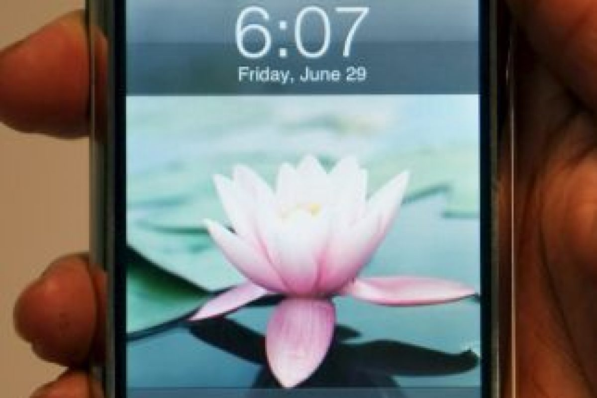 Así lucía el primer iPhone. Foto:Getty Images