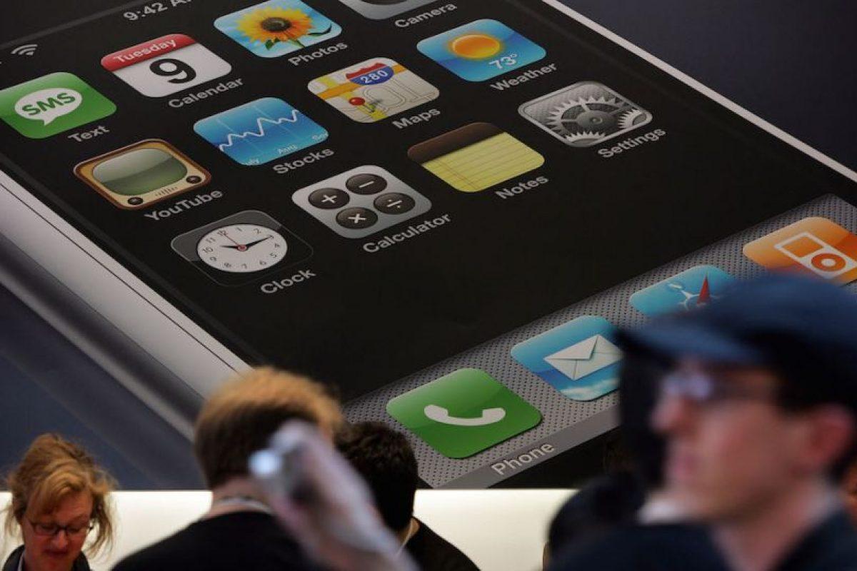 De esta forma se promocionaba el smartphone. Foto:Getty Images
