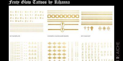 Ahora puedes lograr tatuajes como los de Rihanna – temporalmente al menos. Foto:jacquieaiche.com