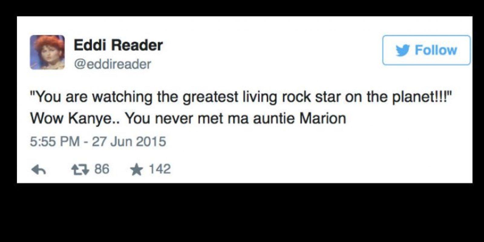 """""""Vaya, Kanye. No has conocido a mi tía Marion"""". Foto:vía Twittter"""