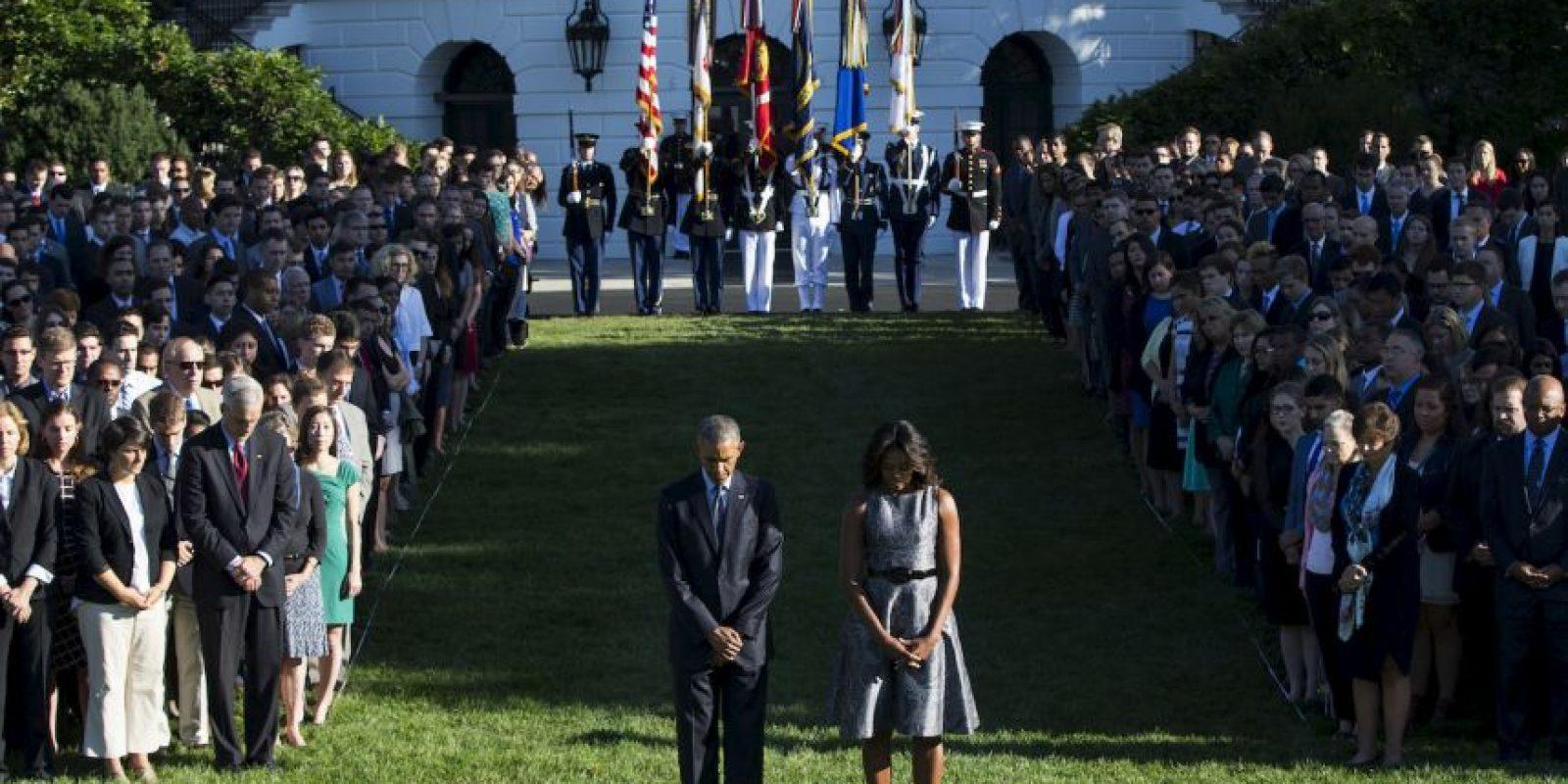 La Casa Blanca rinde homenaje a los caídos en el atentado terrorista. Foto:AP