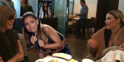 Por la expresión de la cantante se hicieron bastantes memes Foto:Twitter