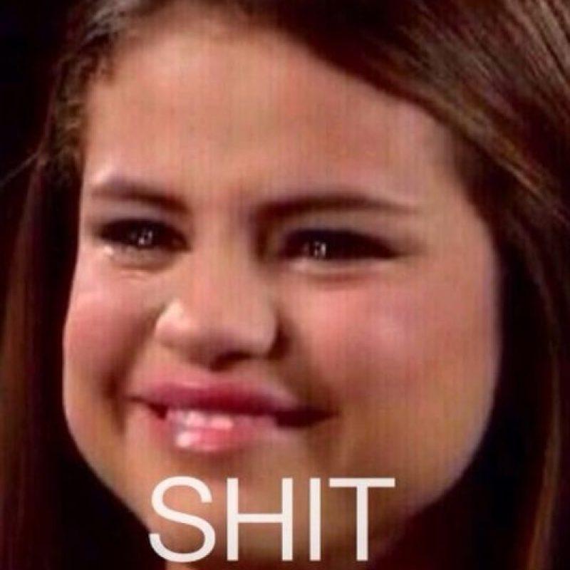 Selena Gómez llorando es otro meme muy usado. Foto:Twitter