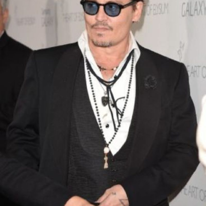 """Johnny Depp: en una entrevista con la revista """"Rolling Stone"""", el actor confesó que está """"tan ciego como un murciélago"""". Foto:vía Getty Images"""