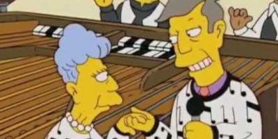 """Seymour Skinner y su madre Agnes, quienes salen en """"Los Simpsons"""", también tienen una insana relación de dependencia. Foto:vía Fox"""