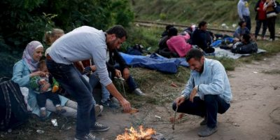 La salida de los sirios del país ha creado una crisis humanitaria. Foto:vía AFP