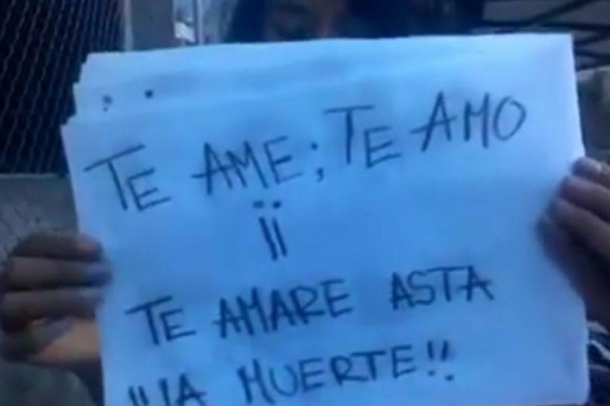 """""""Amé"""" y """"Amaré"""" son con tilde. Nunca hay doble exclamación. Foto:vía Youtube"""