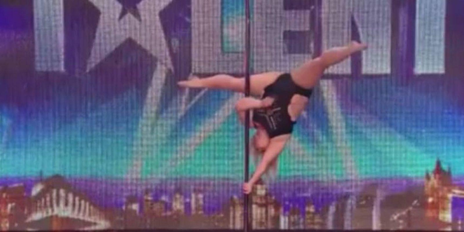 2. Pole dance: Emma Haslam impresionó en Britain´s Got Talent. Pesa 95 kilos. Foto:vía Instagram/jessamynstanley