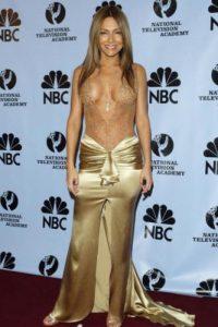 Vanessa Marcil en 2004, vestida como bailarina de orquesta tropical. Foto:vía Getty Images