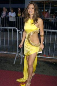"""Shanelle Workman en 2005, con algo que no se pondrían ni en """"El Circo del Sol"""". Foto:vía Getty Images"""