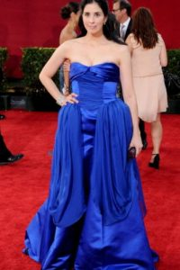 """Sarah Silverman en 2009, con dos """"Tíos Cosa"""" azules en las caderas. Foto:vía Getty Images"""
