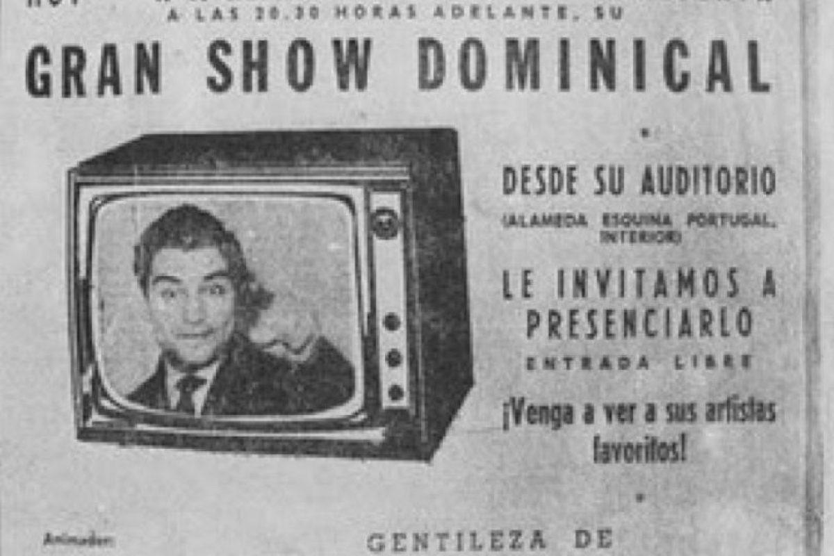 5.- A principios de la década de los 60 visitó Nueva York, donde quedó encantado con los programas de entretenimiento de Estados Unidos. En 1962 regresó a Chile y fue a los estudios de televisión de la Universidad Católica para convencer a los productores de contratarlo como el anfitrión de un show divertido y familiar. Foto:Museodelaprensa.cl