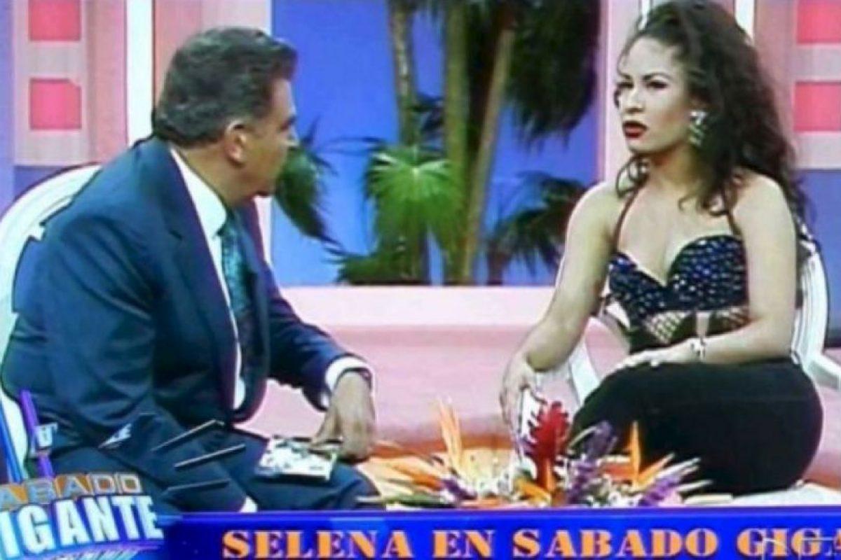 Don Francisco en entrevista con Selena. Foto:vía Twitter/@sabadogigante