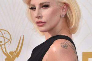 Y lució su pelo al estilo del viejo Hollywood. Foto:vía Getty Images